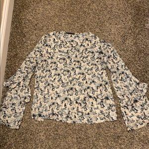 Harlowe & Graham bell-sleeve blouse